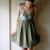 Sage Green Dress  sale by larimeloom on Etsy