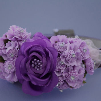 Custom Order, Purple dog collar, Wedding pet accessory