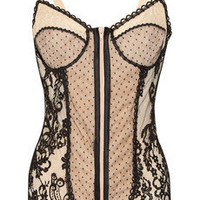 Rosamosario | Vanessa P lace and tulle bodysuit | NET-A-PORTER.COM