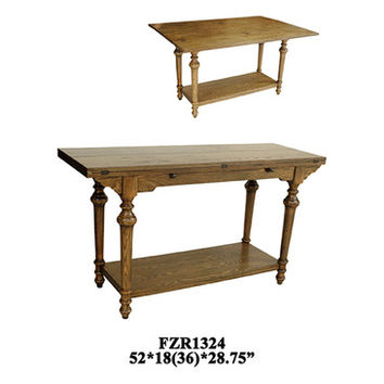 Crestview Harrison Flip Out Sofa Table