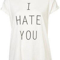 I Hate You Tee By Tee And Cake - Tee & Cake - Apparel Brands  - Designers