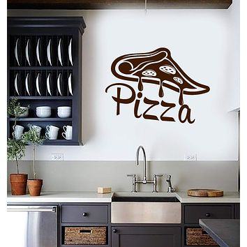 Vinyl Wall Decal Pizza Slice Pizzeria Italian Restaurant Kitchen Dining Room Interior Stickers Mural (ig5841)