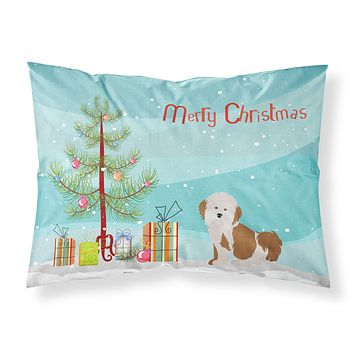 Havanese Christmas Tree Fabric Standard Pillowcase CK3458PILLOWCASE