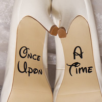 Once Upon A Time Wedding Shoe Decals, High Heel Decals, Shoe Decals for Wedding, Wedding Shoe Decals, Custom Shoe Decals, Disney Shoe Decals