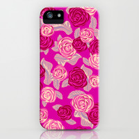 Pink Roses iPhone & iPod Case by Ornaart