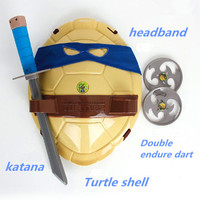 TMNT Teenage Mutant Ninja Turtles Weapons Toys Mask With Lights For Cosplay Movie Toys Kids Brinquedos Birthday Gifts