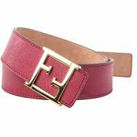 Fendi Leather Belts Red