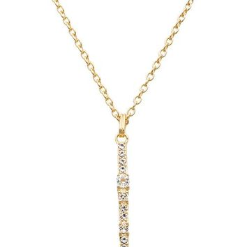 Elizabeth and James Twiggy Pendant Necklace in Metallic Gold
