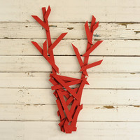 Rustic Pallet Reindeer Head Modern Pallet Holiday Decor