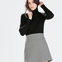 Hound's tooth check skirt