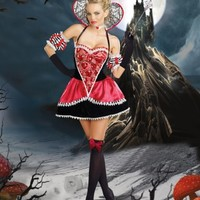 5 PC. Queen of Hearts @ Amiclubwear costume Online Store,sexy costume,women's costume,christmas costumes,adult christmas costumes,santa claus costumes,fancy dress costumes,halloween costumes,halloween costume ideas,pirate costume,dance costume,costumes f