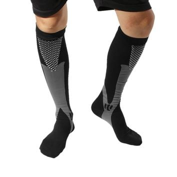 Fashion Unisex Men Women Leg Support Stretch Compression Socks Below Knee Socks