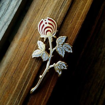 The White Rosebud Nectar Flower Bassnectar Hat Pin