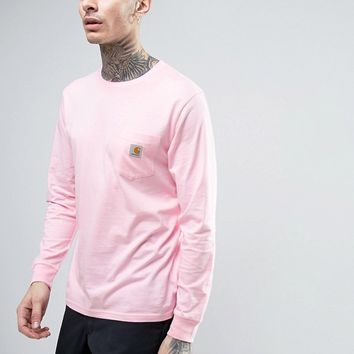 Carhartt WIP Pocket Long Sleeve T-Shirt at asos.com