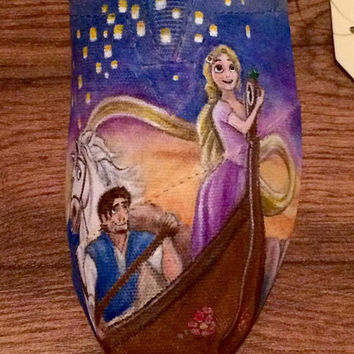 Custom Handpainted Shoes - Tangled