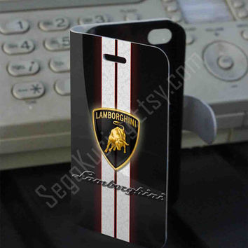 Lamboghini logo Leather Folio Case for iPhone and Samsung Galaxy
