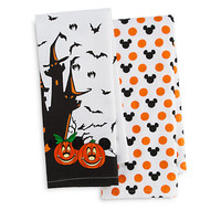 Disney Parks Mickey and Minnie Mouse Halloween Kitchen Towel Set New with Tags