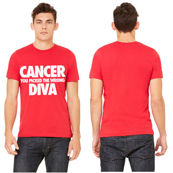 Cancer You Picked The Wrong Diva T-shirt