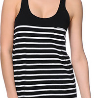 Obey Bennett Black & White Stripe Tank Top