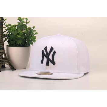 White York Yankees Authentic NY Baseball Cap Adjustable Snapback Sport hat