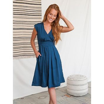 Mata Traders Lucille Dress Navy