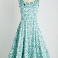 Pinup Long Sleeveless Fit & Flare Casablanca Cabaret Dress by ModCloth