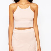 Boohoo Ribbed Crop Top