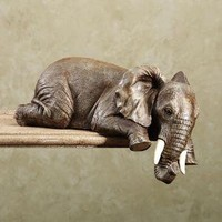 Elephant Shelf Sitter        -                Figurines and Collectibles        -                Home Accents                    - Touch Of Class