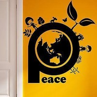 Wall Sticker Vinyl Decal Peace Environment Nature Hippie Decor Unique Gift (ig1839)