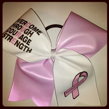 CURE Breast cancer CHEER BOW