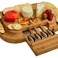 Malvern Deluxe Cheese Board Set, Bamboo, Cheese Boards & Cheese Board Sets