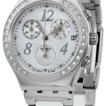 Swatch Irony Chrono DreamWhite Mens Watch YCS511G