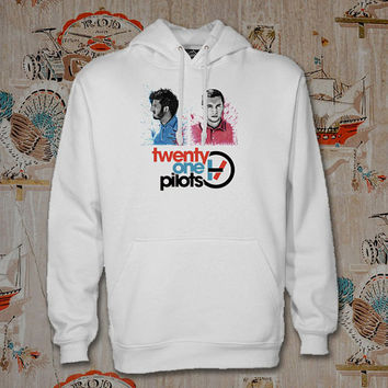 twenty on pilots face Hoodie,Unisex Adults Size,Available Color White Black