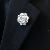 Grey Felt Lapel Flower, Mens Lapel Flower, Mens Lapel Pin,Mens Boutonniere, Wedding Boutonniere, Wedding Lapel Pin