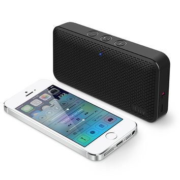 iLuv Aud Mini Ultra Slim Pocket-Sized Powerful Sound Bluetooth V4.1 Speaker for Apple iPhone, iPad, Samsung GALAXY Series, Note, Tablet, LG, Google Android phone and other Bluetooth Devices (Black)