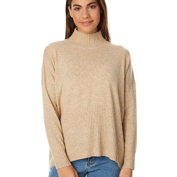 SWELL FUNNEL SEAM KNIT - CAMEL SPECKLE