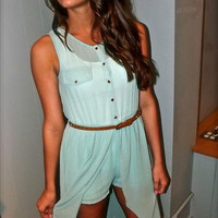 Mint Jumper Dress | The Rage