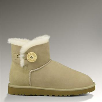 Latest UGG Bailey Button Mini 3352 Boots Sand Elegant