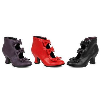 """2.5"""" Heel Bootie  with bows Womens"""