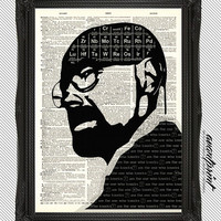 I am the one who Knocks Breaking Bad Original Pop Art Print on Unframed Upcycled Bookpage