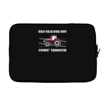 case ih red tractor boy comin' through Laptop sleeve