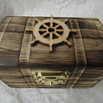 Rustic Wood Burned Personalized Ring bearer Box Nautical Wedding Rustic Wedding Country Wedding