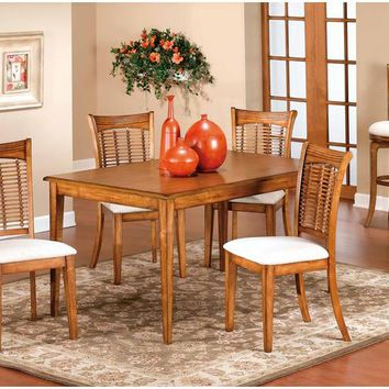 4766 Bayberry Rectangle Dining Set-Oak - Free Shipping!