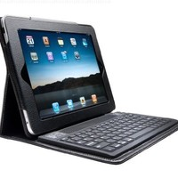 Black Ipad 2 & Ipad 3 Leather Case With Stand & Bluetooth Wireless Keyboard + NEW Easy Sync feature TM IPAD2 IPAD3