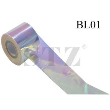 Nail Art Rolls 18 Designs Laser Glitter Blind Blind Nail Foils New Broken Glass Full Tips Nail Art Beauty Sticker BL01-18