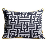 "Frenzy 16x22"" Greek Key Lumbar Pillow"
