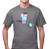 Minecraft Confused T-Shirt - Asphalt,