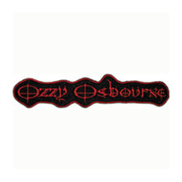 Ozzy Osbourne Men's Embroidered Patch Black