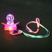 Flashing Panda LED Flashing Pacifier Binkie Raver Pendant Necklace, Lot of 12 Pendants