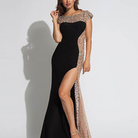 Black jersey gown 88250 - Prom Dresses